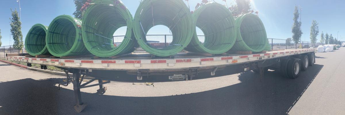 Rebar on a Truck Flatbed